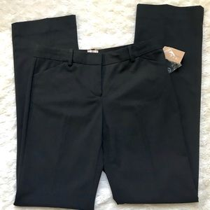 Cremieux Black Straight Leg Dress Pants 6 NWT